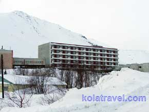 Sanatorium Health hotel in mountains of Khibiny Tundra on Kola Peninsula