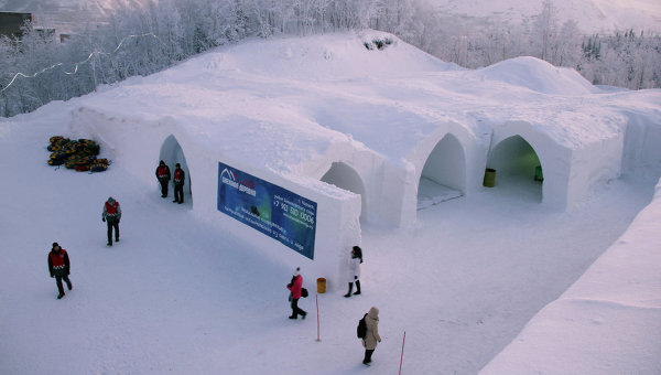 snow village kirovsk