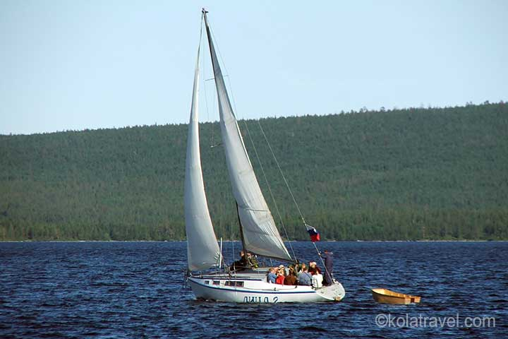 kola peninsula monchegorsk imandra lake yachting excursion russian lapland